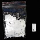 Размерники в пакетике (уп. 200 шт.) № 8 белый