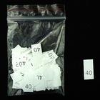 Размерники в пакетике (уп. 200 шт.) №40 белый