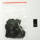 Размерники в пакетике (уп. 200 шт.) №48 черный