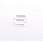 Регулятор для бюстгальтера пластик шир. 0,8 см  прозрачный