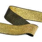 Резинка 30 мм TBY ET.30BLG металлизир. черный/золото (уп 30м)