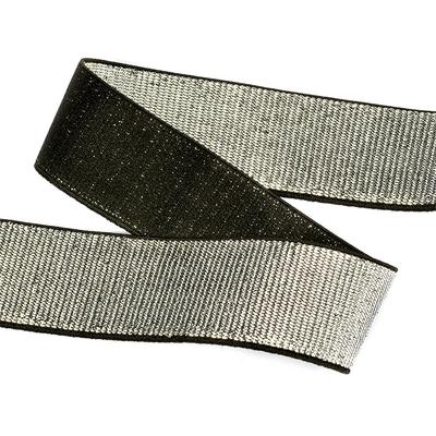 Резинка 30 мм TBY ET.30BLG металлизир. черный/серебро (уп 30м) в интернет-магазине Швейпрофи.рф