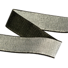 Резинка 30 мм TBY ET.30BLG металлизир. черный/серебро (уп 30м)