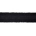 Резинка-рюшка 14 мм 1398 (SF029) (уп. 25 м) черный