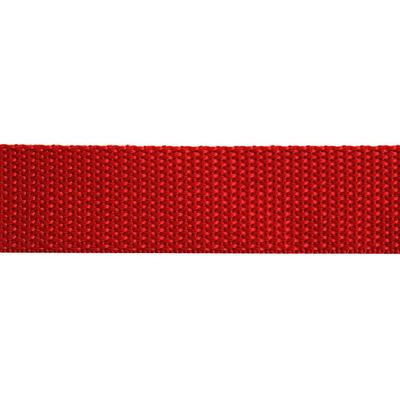Ременная лента Китай 25 мм (рул. 100 м) красн. в интернет-магазине Швейпрофи.рф