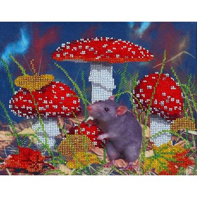 Рисунок для вышивания бисером HP СБ-3089 «В мухоморах» 18*22 см в интернет-магазине Швейпрофи.рф