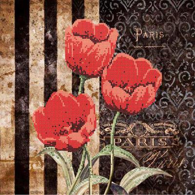 Ткань для вышивания бисером Астрея (Gluria) 70065 «Париж» 30*30 см в интернет-магазине Швейпрофи.рф