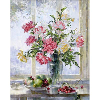 Рисунок для вышивания бисером Астрея (Gluria) 70078 «Цветы и фрукты» 40*32 см в интернет-магазине Швейпрофи.рф
