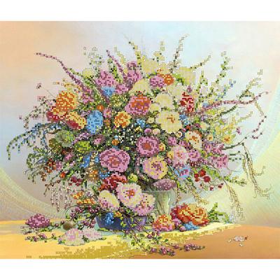 Ткань для вышивания бисером Астрея (Gluria) 70342 «Нежный букет» 40*32 см в интернет-магазине Швейпрофи.рф