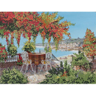 Рисунок для вышивания бисером Астрея (Gluria) 71023 «Столики у моря» 30*39,5 см