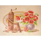 Рисунок для вышивания бисером Благовест К-3030 Кофе 36,5*27,5 см