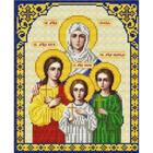 Рисунок для вышивания бисером Благовест И-4056 Св. Муч. Вера, Надежда, Любовь и София 20*25 см