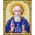Рисунок для вышивания бисером Благовест И-4121 Св. Преподобный Сергий Радонежский 20*25 см