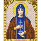 Рисунок для вышивания бисером Благовест И-4124 Св. Мученица Фотина (Светлана) 20*25 см