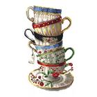 Рисунок для вышивания бисером Каролинка КБЛ-3030 «Чашки» 25*40 см