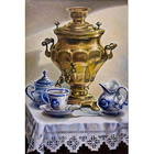 Рисунок для вышивания бисером Каролинка КБЛ-3032 «Самовар» 24*36 см