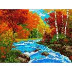 Рисунок для вышивания бисером Каролинка КБП-3004 «Осень» 27*36 см