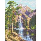 Рисунок для вышивания бисером Каролинка КБП-3024 «Горный водопад» 27*36 см