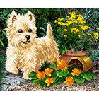 Рисунок для вышивания бисером М.П.Студия Г-098 «Белый щенок» 50*40 см