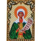 Ткань для вышивания бисером «Русская сказка М-089 Св Мученица Дарья» 18*27 см