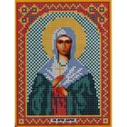 Ткань для вышивания бисером «Русская сказка МК-035 Св. Дарья» 12*16 см