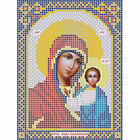 Ткань для вышивания бисером «Русская сказка МК-043 Богородица Казанская» 12*16 см