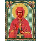 Ткань для вышивания бисером «Русская сказка МК-054 Св. Валерия» 12*16 см