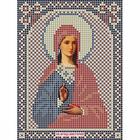Ткань для вышивания бисером «Русская сказка МК-057 Св. Виктория» 12*16 см