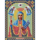 Ткань для вышивания бисером «Русская сказка МК-066 Св. Параскева Пятница» 12*16 см