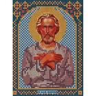 Ткань для вышивания бисером «Русская сказка МК-119 Св Максим Чудотворец» 12*16 см