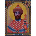 Ткань для вышивания бисером «Русская сказка МК-128 Св Николай» 12*16 см