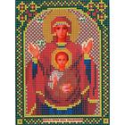 Ткань для вышивания бисером «Русская сказка МК-168 БМ Знамение» 12*16 см