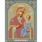 Ткань для вышивания бисером «Русская сказка МК-169 БМ Иверская» 12*16 см