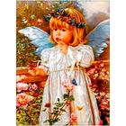 Рисунок на габардине «Русская сказка ПЛ-016 Ангел и бабочки» 24*36 см