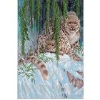 Рисунок на габардине «Русская сказка РС-170 Барсы» 47*32 см