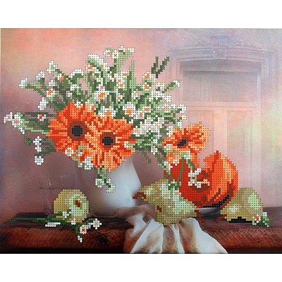 Рисунок на габардине А3 БИС 509 «Цветы и груши» в интернет-магазине Швейпрофи.рф