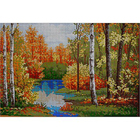 Рисунок на габардине А3 КМЧ-3348 «Осенняя роща» 25*37 см