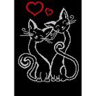 Рисунок на габардине А3 КМЧ-3401 «Влюбленные кошки»