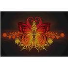 Рисунок на габардине А3 КМЧ-3417 «Бабочка» 25*37 см