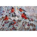 Рисунок на габардине А3 КМЧ-3422 «Снегири»