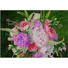 Рисунок на габардине А4 КМЧ-4367 «Букет цветов» 17*25 см