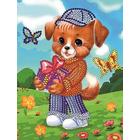Рисунок на габардине А5 детские БИС 024 «Подарок» 12*16 см