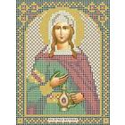 Рисунок на габардине А5 иконы БИС МК-047 «Св. Светлана (Фотина)»