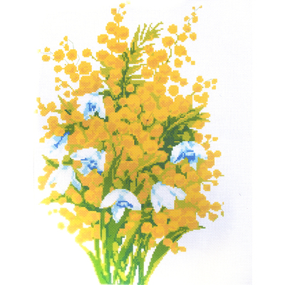 Рисунок на канве А-546 «Мимоза» * 45*45 см в интернет-магазине Швейпрофи.рф