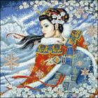 Рисунок на канве Гелиос А-004  «Девушка» 43*43 см