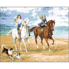 Рисунок на канве Гелиос А-009 «Прогулка на конях» 50*42 см