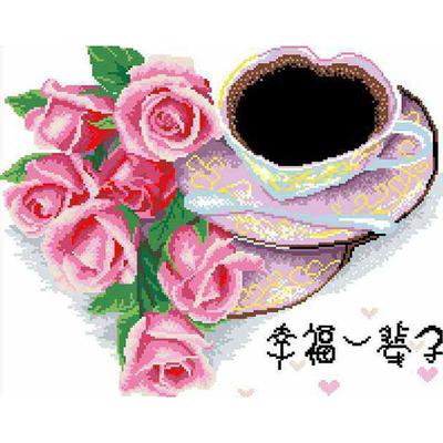Рисунок на канве Гелиос А-010 «Чашка кофе» 34*42 см в интернет-магазине Швейпрофи.рф