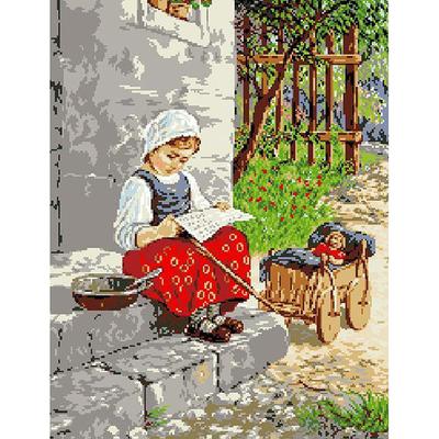 Рисунок на канве Гелиос А-022 «Девочка» 40*50 см в интернет-магазине Швейпрофи.рф