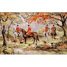 Рисунок на канве Гелиос А-024 «Охота на лис» 43*65 см