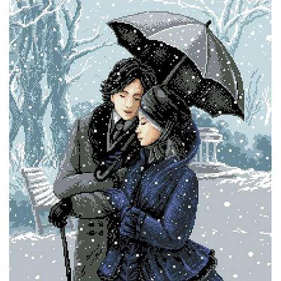 Рисунок на канве Гелиос А-025 «Зимняя прогулка» 43*47 см в интернет-магазине Швейпрофи.рф